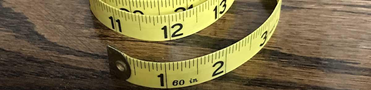 Mètre ruban pour pouces en centimètres